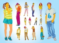Teenager Illustrations vector free