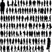 Different people silhouettes creative design free