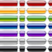 Vector web buttons creative design set 06 free