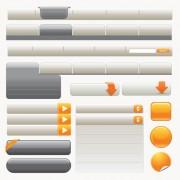 Gray website navigation buttons creative vector free