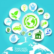 Green ecology concept paper vector 04 free