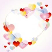Colored dream heart design vector 01 free