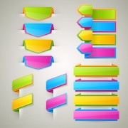 Colored bookmarks with ribbons vector graphics free