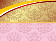 Pink And Gold Background vector free