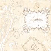 Floral elegant invitation cards vector set 03 free