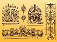 Antique Ornament Vectors free
