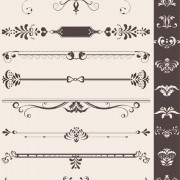 Creative vintage ornaments with borders vector free