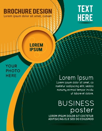Abstract with round brochure cover design vector 01 free