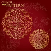 Chinese style floral pattern vector graphic 02 free