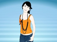 Asian Girl Vector free