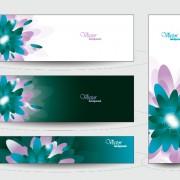 Elegant web banner design vector 02 free