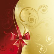 Red and Golden floral background vector free