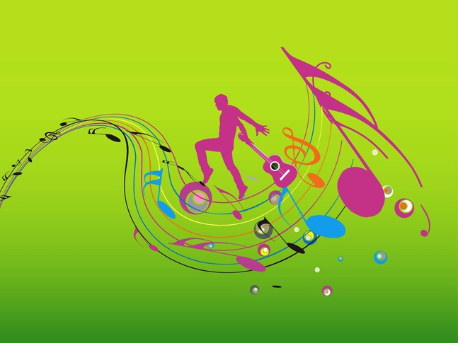 colorful music design vector free free download