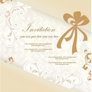Floral elegant invitation cards vector set 04 free