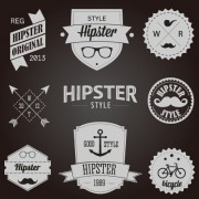 Hipster style badges and labels vector graphics 04 free