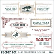 Page decoration borders and frames vector 02 free