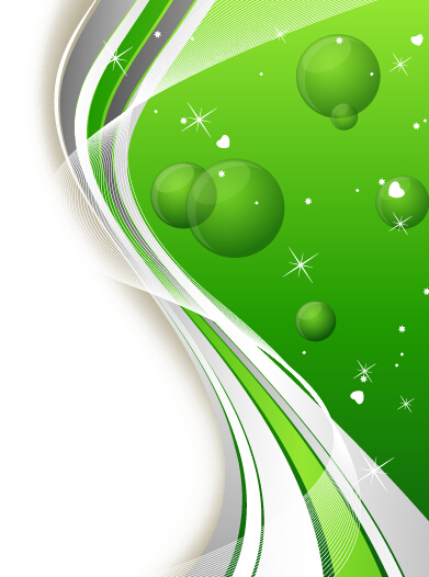 Green Sphere And Abstract Shiny Background Vector For Free