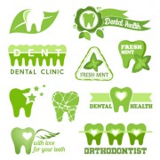Classic dental logos and labels vector graphics 03 free