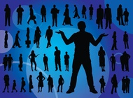 Everyday People Silhouettes vector free