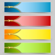 Golden zipper banner vector free