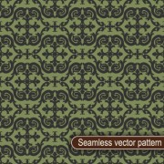 Vintage floral seamless vector pattern 01 free