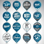 Creative sale badges design graphics 02 free