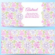 Cute abstract elements banners vectors 01 free