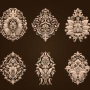 Ornamental floral damask elements vector 02 free