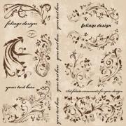 Vintage spring floral ornaments elements vector 01 free