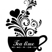 Coffee cup with floral background vector 04 free