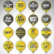 Creative sale badges design graphics 03 free