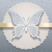 Elegant butterflies vintage card vector 04 free