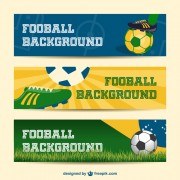 Football background banner vector free