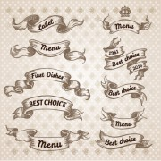 Hand drawn vintage ribbon benner vector 09 free