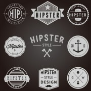 Hipster style badges and labels vector graphics 02 free