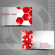 Modern style abstract business cards vector 04 free