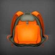 Cute school bag design vector 01 free