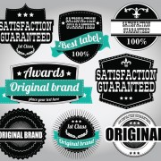 Retro Premium Quality Labels with Ribbon Vector 10 free