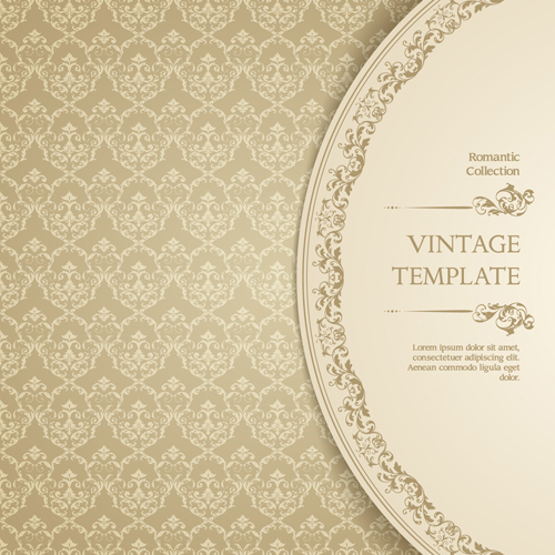 I Designed A Vintage Looking Border Art For You To Use In: Ornate Vintage Template Background Vector 04 Free
