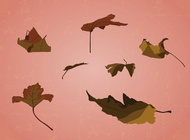 Scattered Leaves vector free