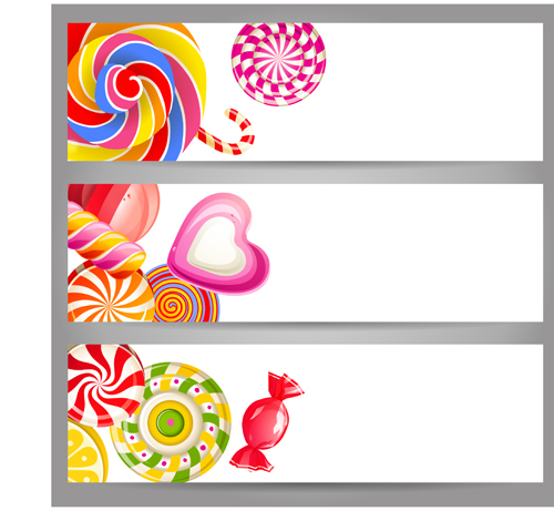 cute sweets banners vector free free download. Black Bedroom Furniture Sets. Home Design Ideas