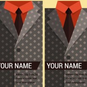 Creative suit with business cards vector set 08 free
