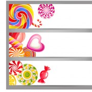 Cute sweets banners vector free