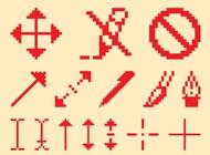 Pixelated Icon Set vector free