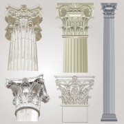 Vintage columns design elements vector 01 free