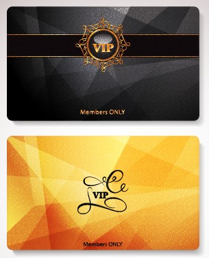 Glowing Vip card creative design vector set 01 free