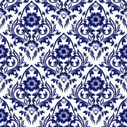 Blue floral ornaments pattern seamless vector free