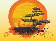 Bonsai Tree Vector free