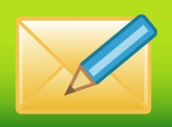 Compose Mail Button vector free