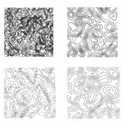 Creative topographic map patterns vector free